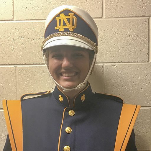 Samantha Miller '18 Selected for Notre Dame Marching Band