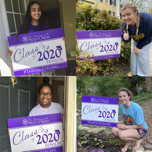 Senior Yard Signs Show the Class of 2020 Tartan Pride