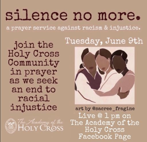 Silence No More. A Prayer Service Against Racism and Injustice